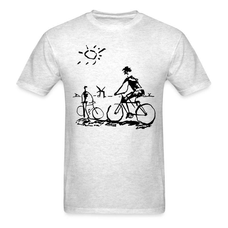 Picasso Bicycle - Bicycling Sketch - Men's T-Shirt