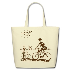 Picasso Bicycle - Bicycling Sketch - Eco-Friendly Cotton Tote