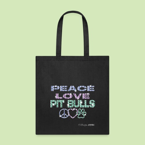 GIVE BACK- Peace Love Pit Bulls - Tote Bag