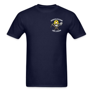 Underground Explorers Navy Blue Logo Tee - Men's T-Shirt