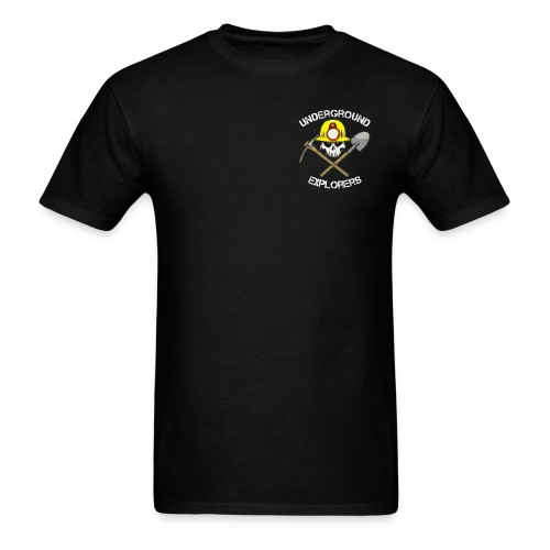 Underground Explorers Black Logo Tee - Men's T-Shirt