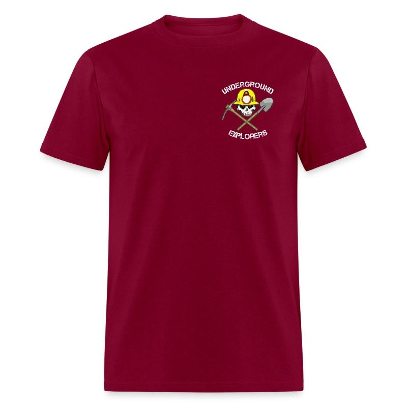 Underground Explorers Burgundy Logo Tee - Men's T-Shirt