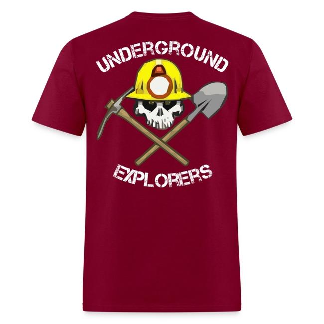 Underground Explorers Burgundy Logo Tee