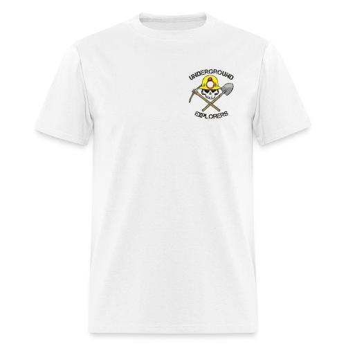 Underground Explorers White Logo Tee - Men's T-Shirt