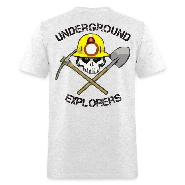 Underground Explorers Gray Logo Tee