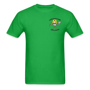 Underground Explorers Bright Green Logo Tee - Men's T-Shirt
