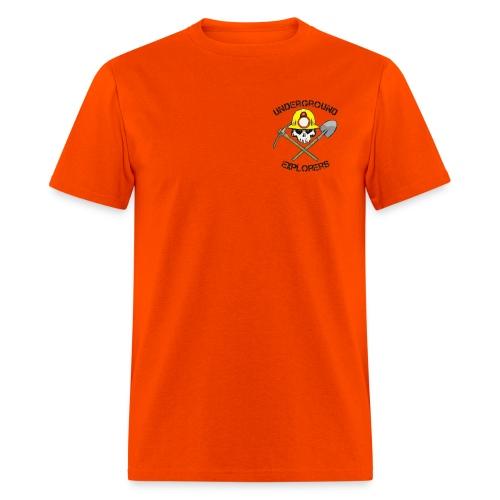 Underground Explorers Orange Logo Tee - Men's T-Shirt