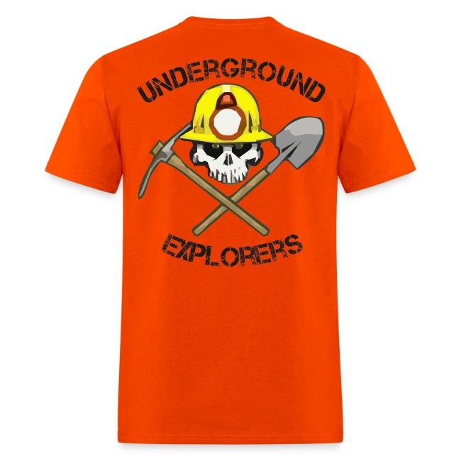 Underground Explorers Orange Logo Tee