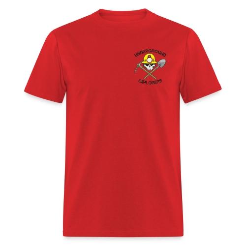 Underground Explorers Red Logo Tee - Men's T-Shirt