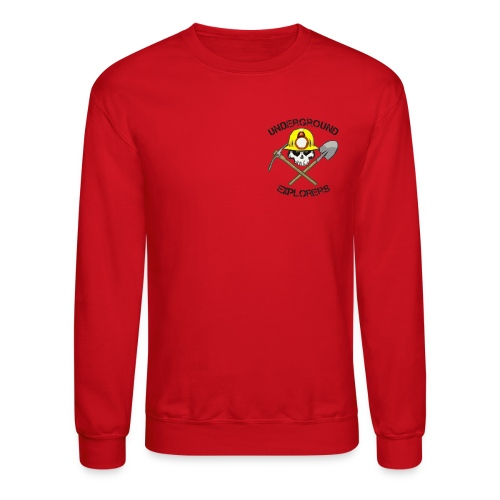 Underground Explorers Red Sweatshirt - Crewneck Sweatshirt