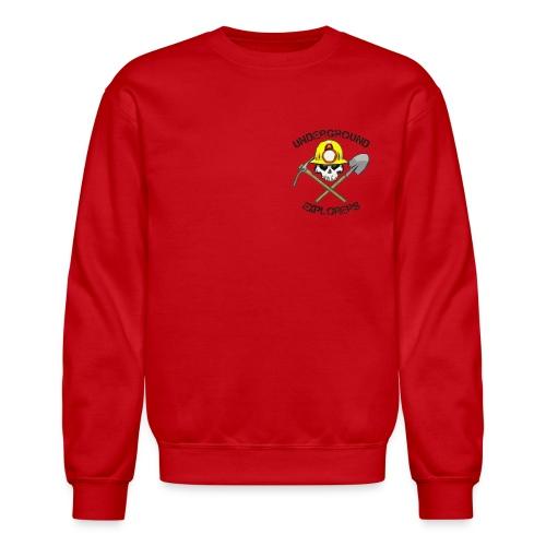 Underground Explorers Red Sweatshirt - Crewneck Sweatshirt