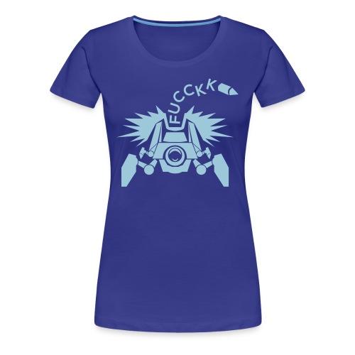 Womens Widow Mine Baby Blue Shirt  - Women's Premium T-Shirt