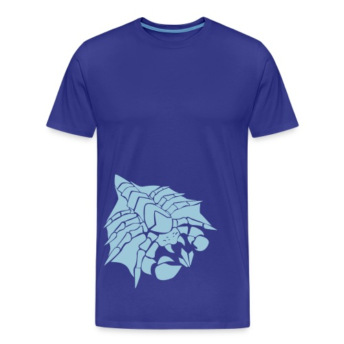 Mens Happy Drone Blue Shirt - Men's Premium T-Shirt