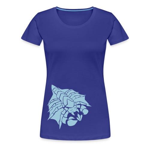 Womens Happy Drone Blue Shirt - Women's Premium T-Shirt