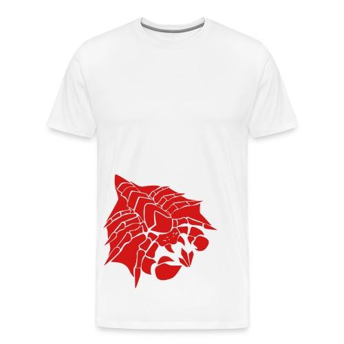 Mens Happy Drone Red Shirt - Men's Premium T-Shirt