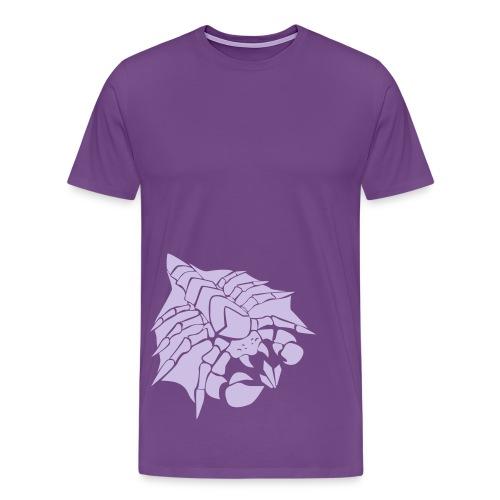 Mens Happy Drone Purple Shirt - Men's Premium T-Shirt