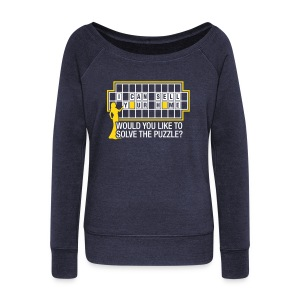 Wheel of Fortune Wide Sweatshirt - Women's Wideneck Sweatshirt