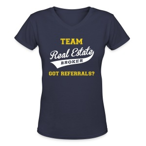 Team RE V-Neck - Women's V-Neck T-Shirt