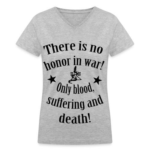 SergiuHellDragoon's Quote Women's T-Shirt - Women's V-Neck T-Shirt