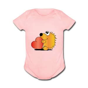 Baby Hedgehog - Short Sleeve Baby Bodysuit