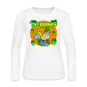 St. Patrick's Day Long Sleeve Jersey T-Shirt For Women - Women's Long Sleeve Jersey T-Shirt