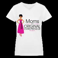 T-Shirts ~ Women's V-Neck T-Shirt ~ The Original Entrepreneur T-shirt