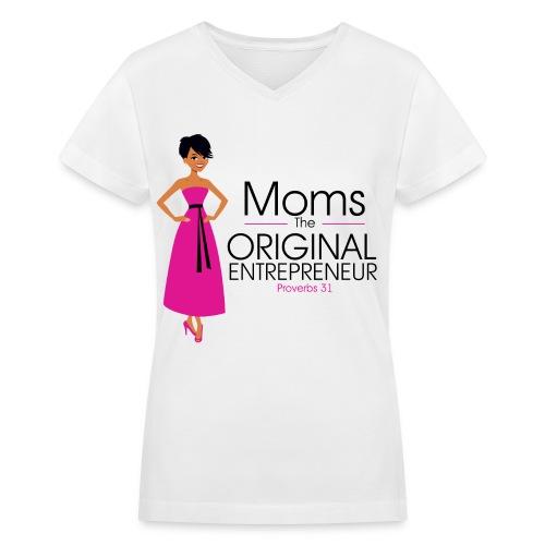 The Original Entrepreneur T-shirt - Women's V-Neck T-Shirt