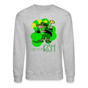 Kiss Me I'm Irish Crewneck Sweatshirt For Men - Crewneck Sweatshirt
