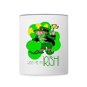 Kiss Me I'm Irish Ceramic Coffee Mug - Contrast Coffee Mug