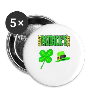 Happy Saint Patrick's Day Button 5 Pack - Large Buttons