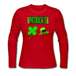 Happy Saint Patrick's Day Long Sleeve Jersey T-Shirt For Women - Women's Long Sleeve Jersey T-Shirt
