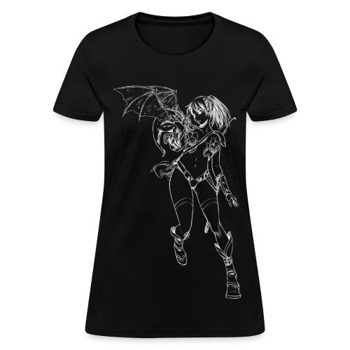 Sexy Dragon Warrior Girl (Women) - Women's T-Shirt