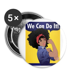 We Can Do It! buttons - Large Buttons