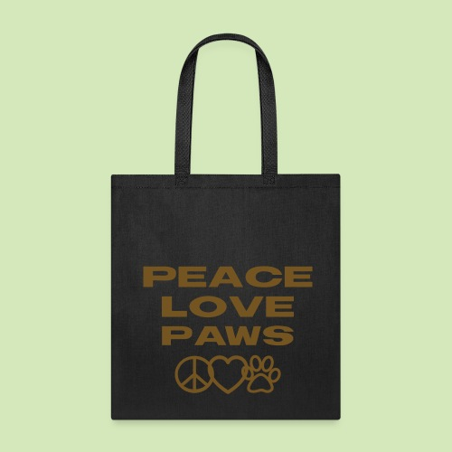 GIVE BACK- Peace Love Paws GLITTER - Tote Bag