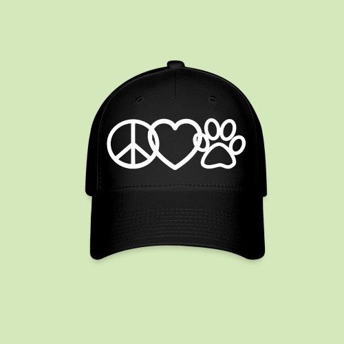 GIVE BACK- Peace Love Paws  - Baseball Cap