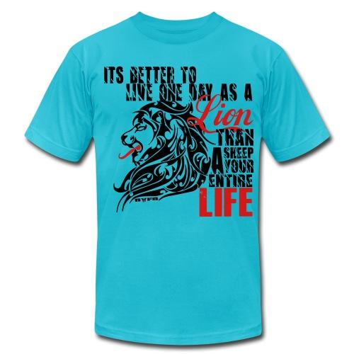 Men's LION LIFE TShirt - Men's Fine Jersey T-Shirt