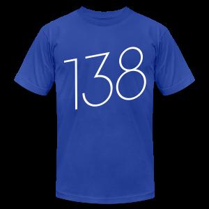 138 (White Text) - Male - Men's Fine Jersey T-Shirt