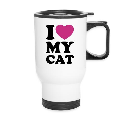 I Love My Cat Traveller Mug  - Travel Mug