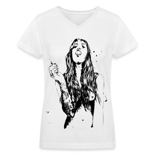 Stoner Chick  - Women's V-Neck T-Shirt