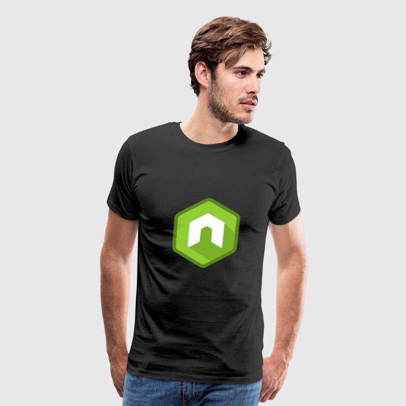 Node JS Flat Design - Men's Premium T-Shirt