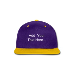 Snap-Back Baseball Cap Design Template - Snap-back Baseball Cap
