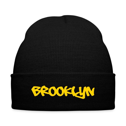 Brooklyn Hat - Knit Cap with Cuff Print