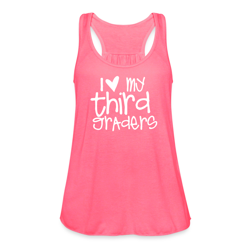 Love My Third Graders | Chalk - Women's Flowy Tank Top by Bella