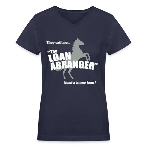 Loan Arranger V-Neck - Women's V-Neck T-Shirt