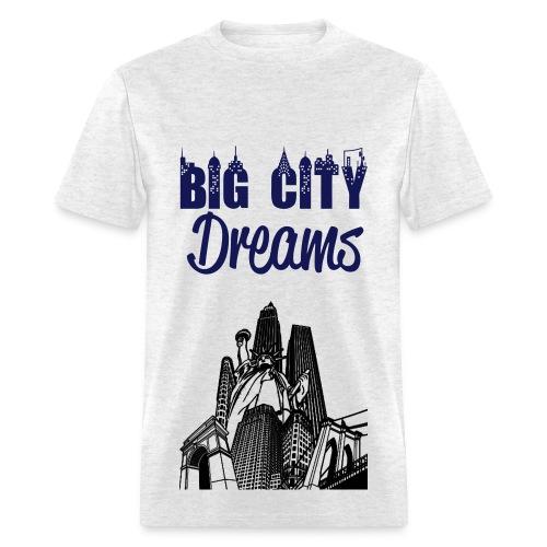 Men's Gray City Dreaming T-shirt - Men's T-Shirt