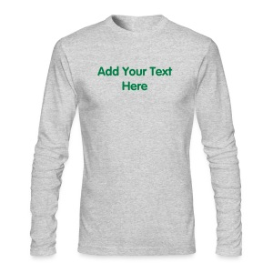 Men's American Apparel  Long Sleeve T-Shirt Design Template - Men's Long Sleeve T-Shirt by Next Level