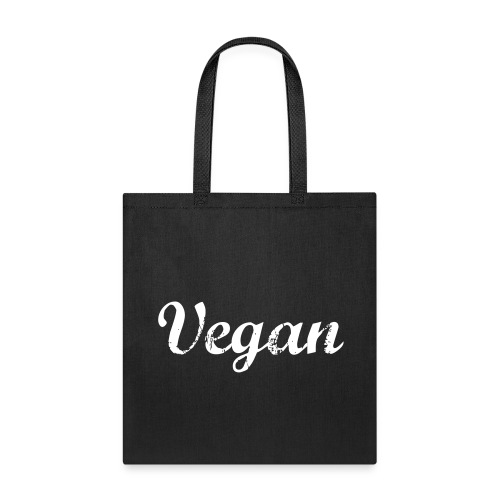 Vegan faded text tote bag - Tote Bag