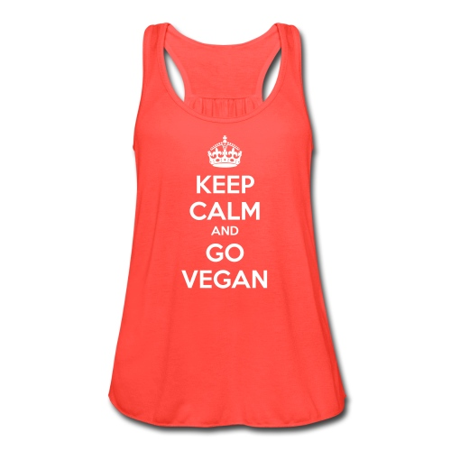 Keep calm and go Vegan women's flowy tank - Women's Flowy Tank Top by Bella