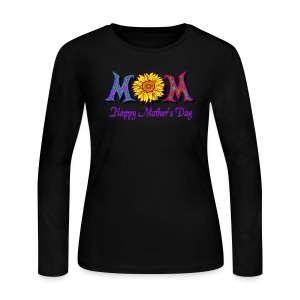 Happy Mother's Day Long Sleeve Jersey T-Shirt For Women - Women's Long Sleeve Jersey T-Shirt