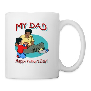 Happy Father's Day Long Sleeve T-Shirt For Kids - Coffee/Tea Mug